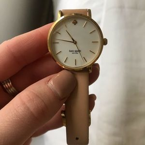 Kate Spade tan leather watch